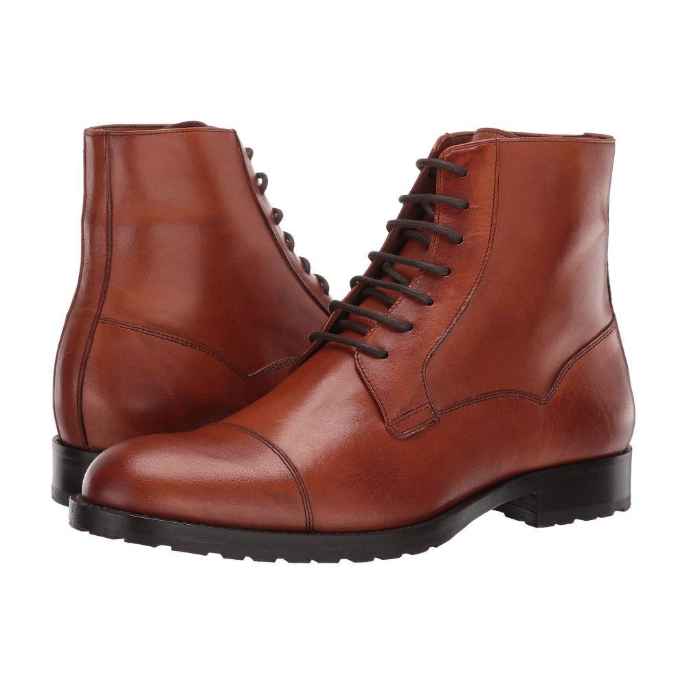 マッテオ マッシモ Massimo Matteo メンズ ブーツ シューズ・靴【7-Eye Cap Boot】Burnished Brandy
