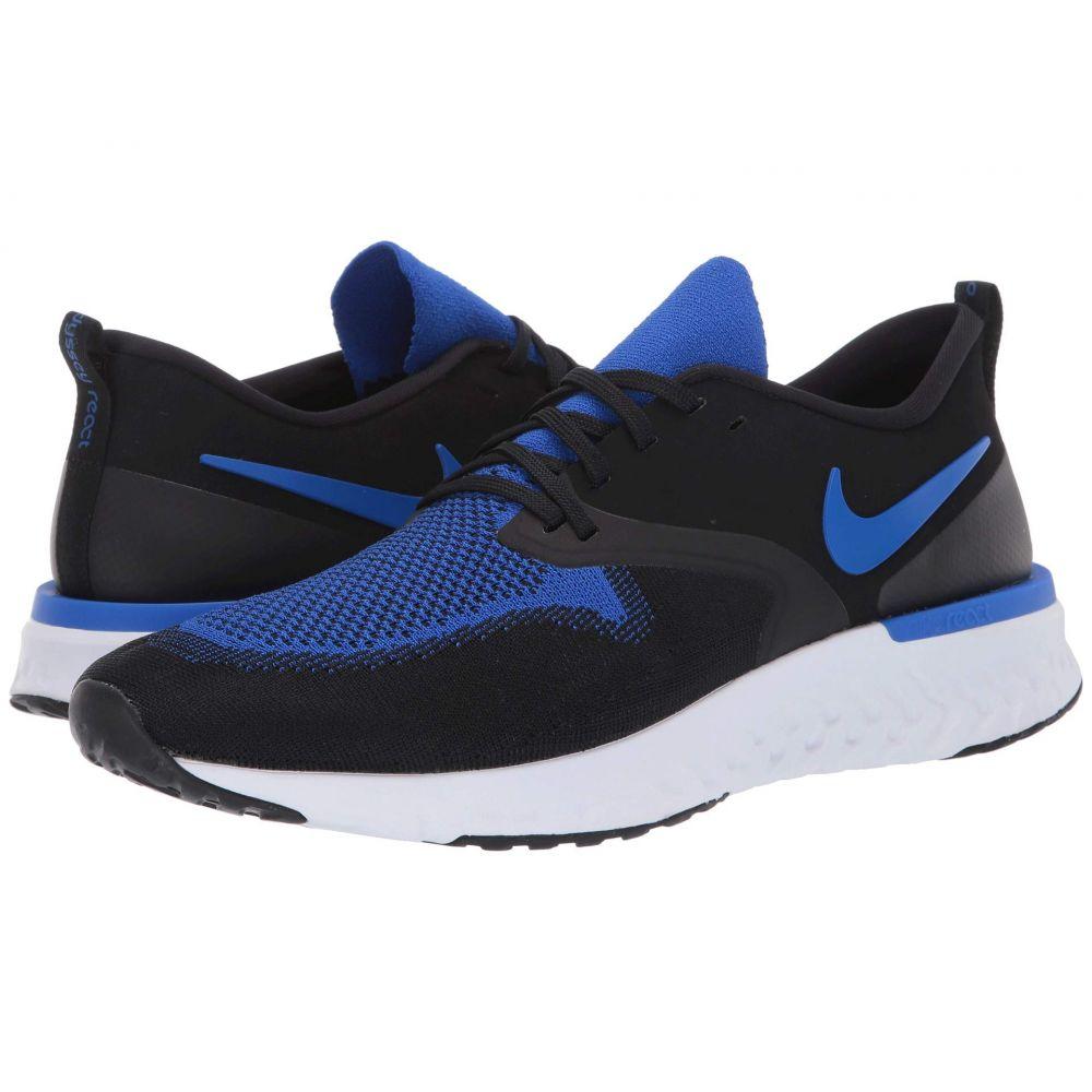ナイキ Nike メンズ ランニング・ウォーキング シューズ・靴【Odyssey React Flyknit 2】Black/Racer Blue/White