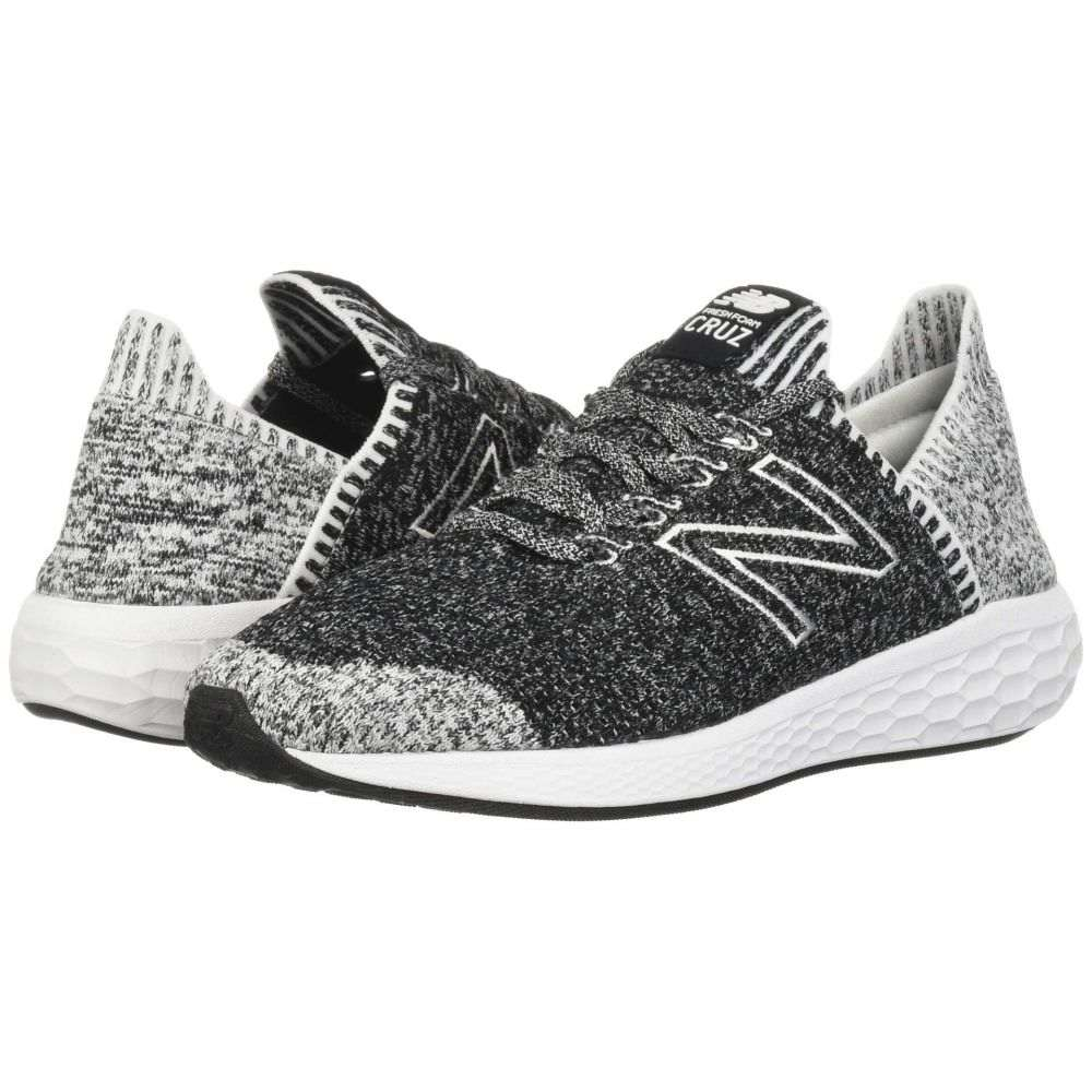ニューバランス New Balance メンズ ランニング・ウォーキング ソックス シューズ・靴【Fresh Foam Cruz v2 Sock Fit】Black/White