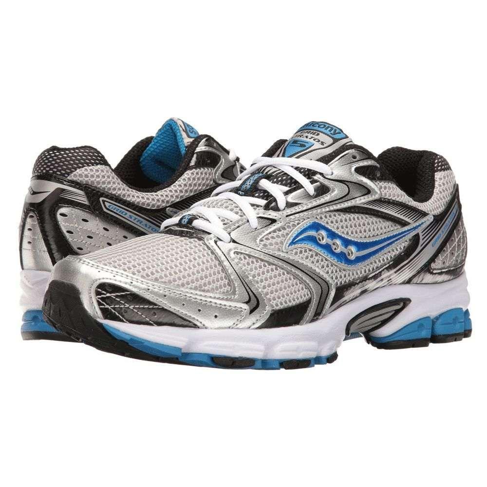サッカニー Saucony メンズ ランニング・ウォーキング シューズ・靴【Grid Stratos 5】Silver/Black/Royal
