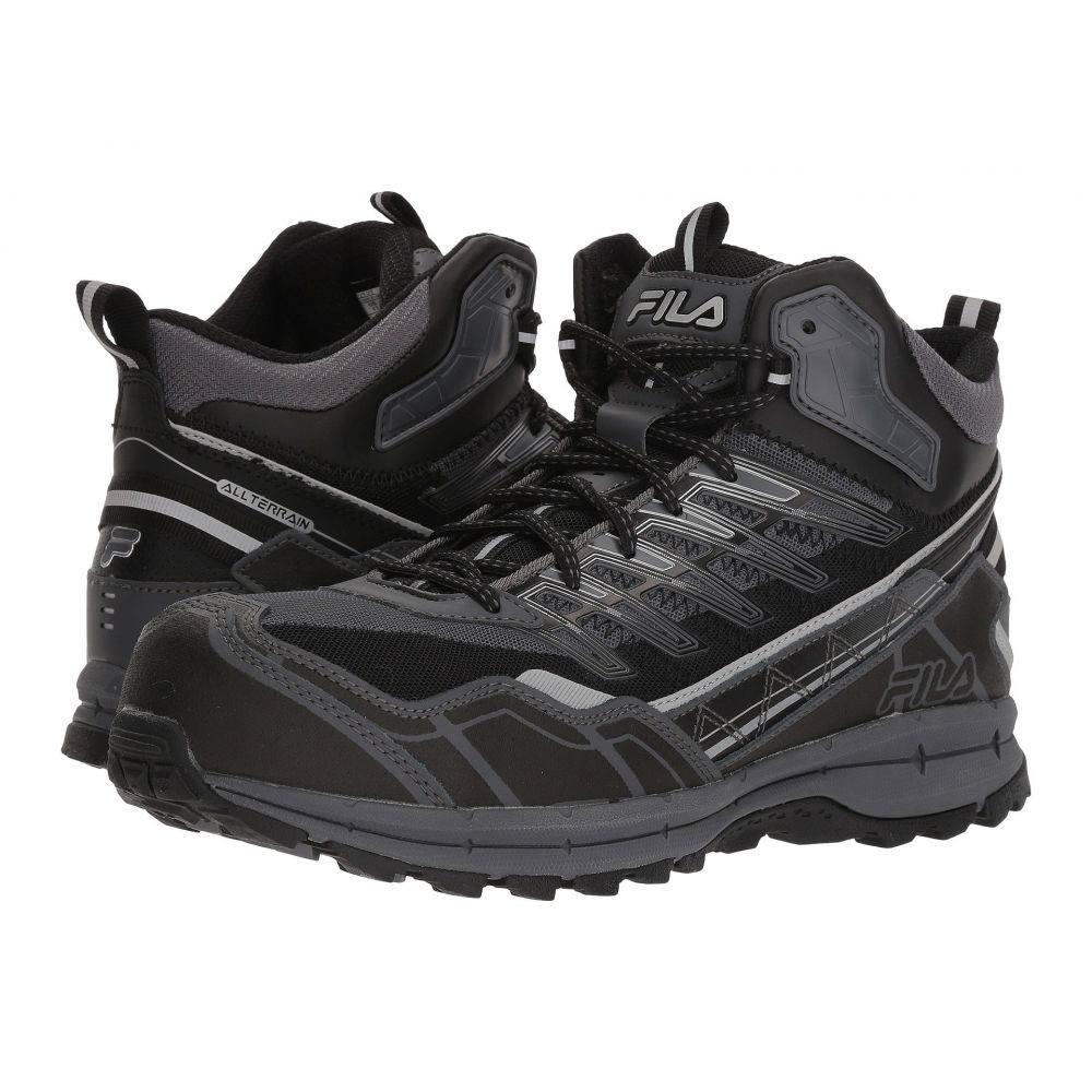 フィラ Fila メンズ ランニング・ウォーキング シューズ・靴【Hail Storm 3 Mid Composite Toe Trail】Castlerock/Black/Metallic Silver
