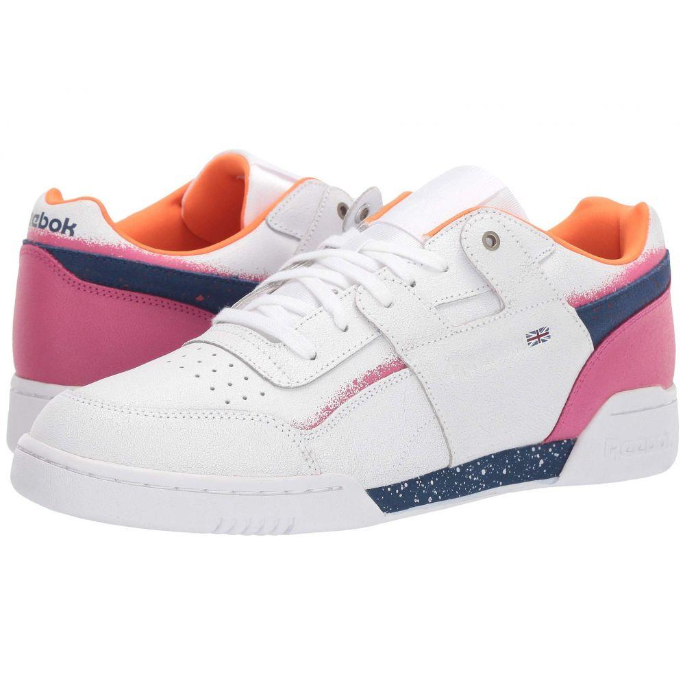 リーボック Reebok メンズ スニーカー シューズ・靴【Workout Plus Montana】White/Pure Orange/Ultrama
