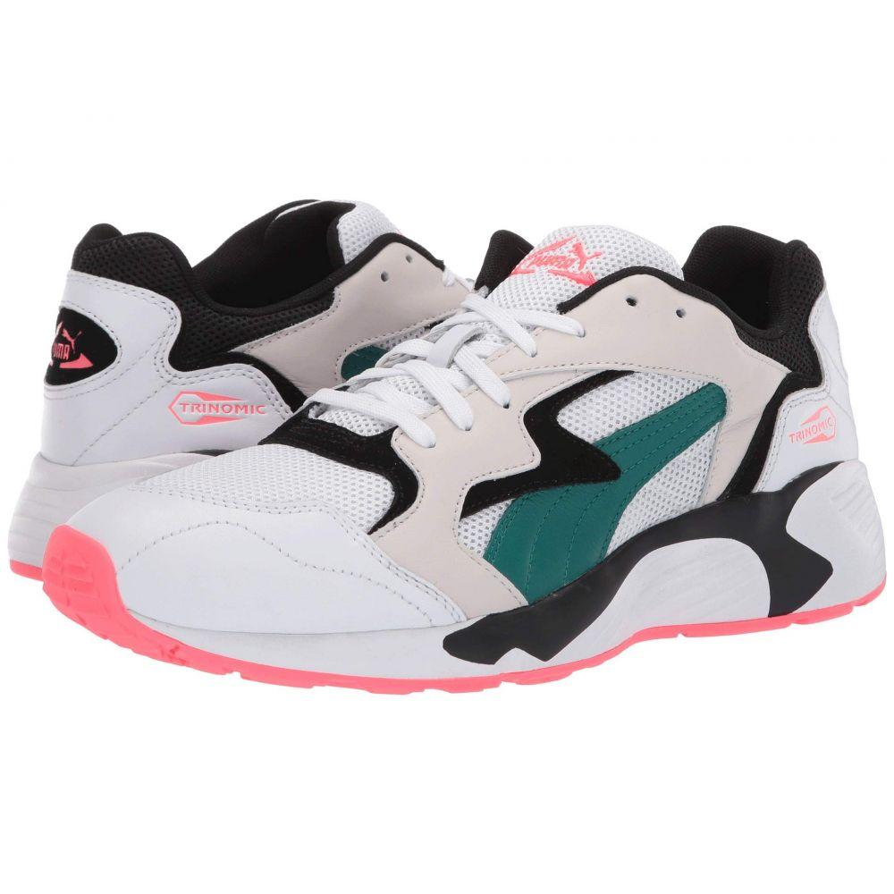 プーマ PUMA メンズ スニーカー シューズ・靴【Prevail Classic】Puma White/Teal Green