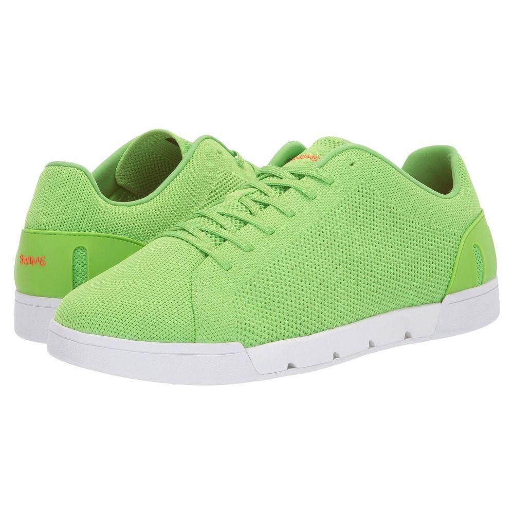 スウィムス SWIMS メンズ スニーカー シューズ・靴【Breeze Tennis Knit Sneakers】Acid Green/White