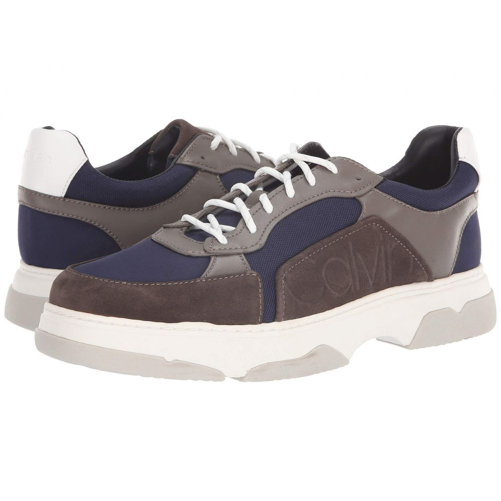 カルバンクライン Calvin Klein メンズ スニーカー シューズ・靴【Penley】Grey Stone/Night Scape Smooth Calf Leather