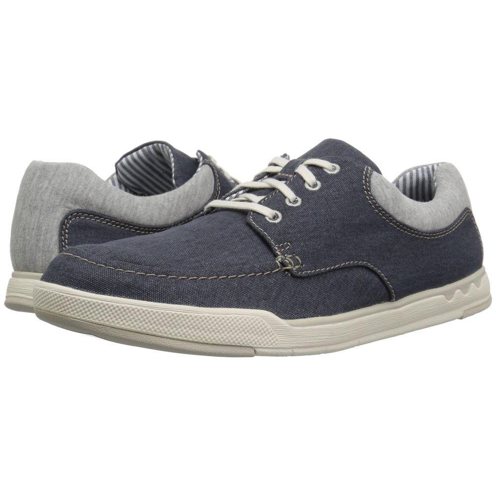 クラークス Clarks メンズ スニーカー シューズ・靴【Step Isle Lace】Navy Canvas