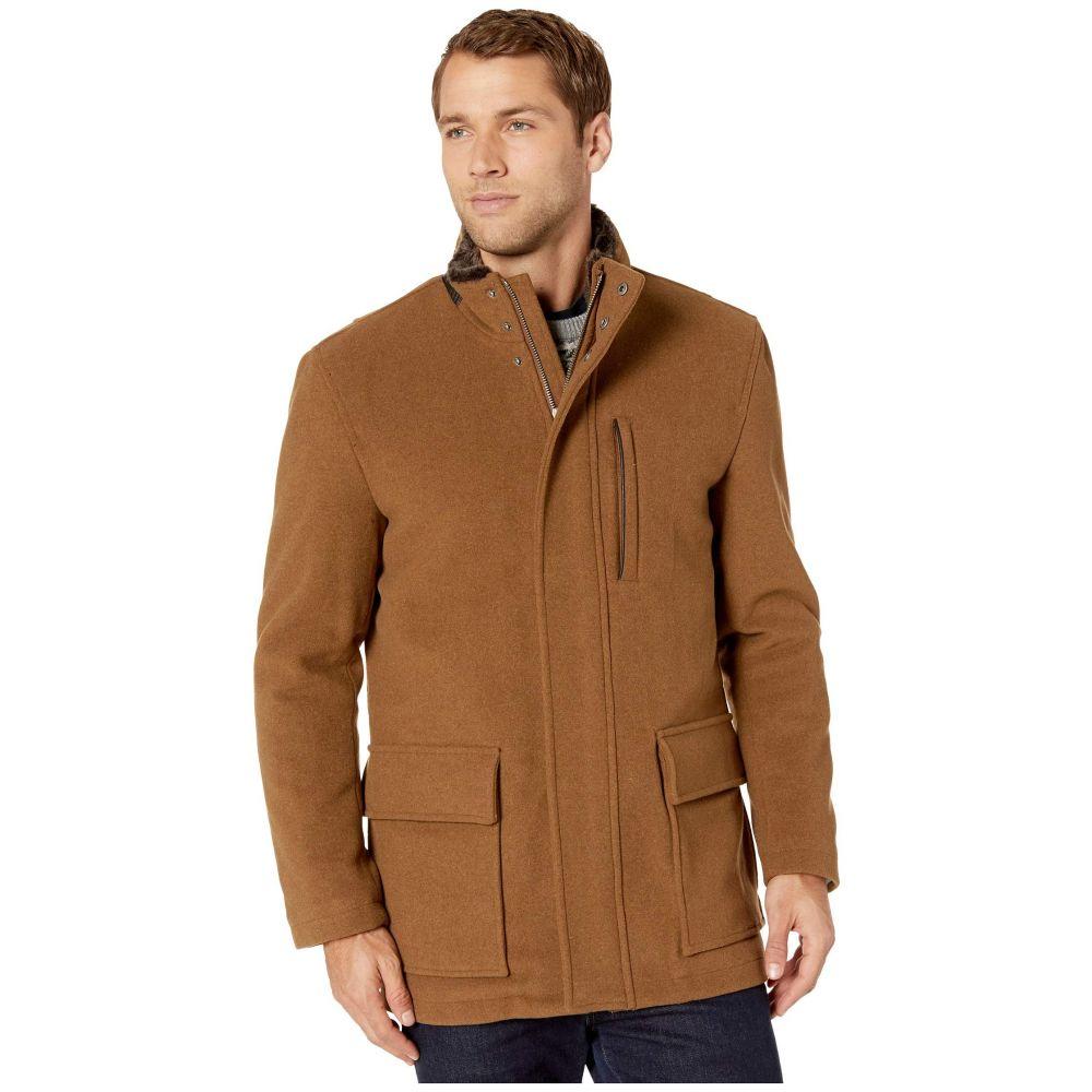 コールハーン Cole Haan メンズ コート アウター【Wool Plush Coat with Faux Fur Inner Collar】Camel