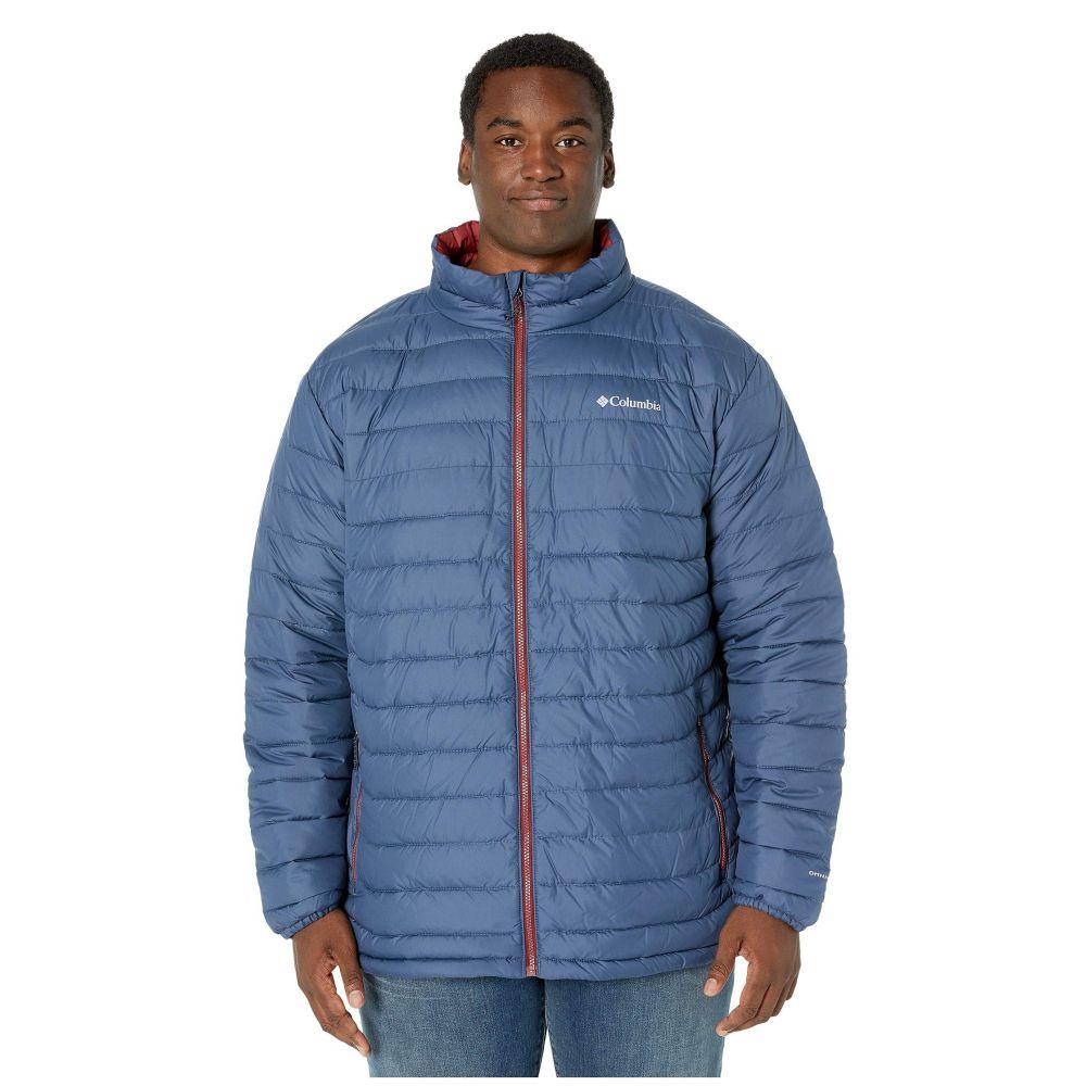 コロンビア Columbia メンズ ダウン・中綿ジャケット 大きいサイズ アウター【Big & Tall Powder Lite Jacket】Dark Mountain/Red Jasper Pop