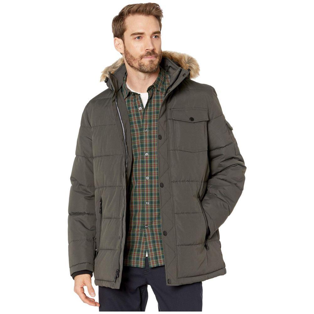 ノーティカ Nautica メンズ ダウン・中綿ジャケット アウター【Polyester Fill Puffer w/ Removable Faux Fur Hood】Charcoal