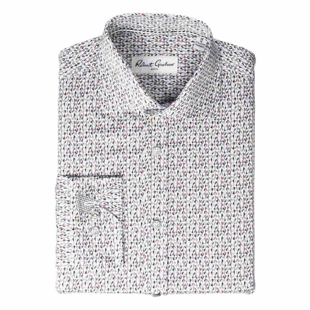 ロバートグラハム Robert Graham メンズ シャツ トップス【Ivor Long Sleeve Dress Shirt】Grey