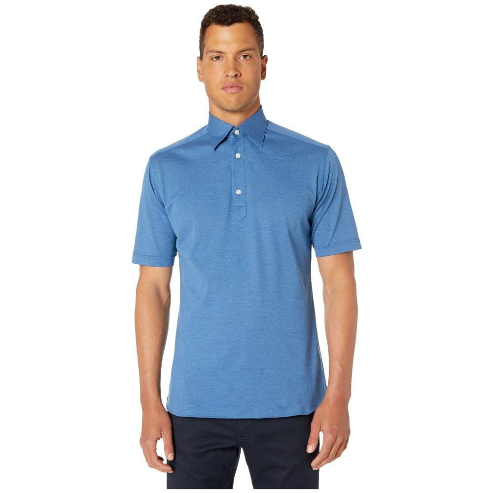 イートン Eton メンズ ポロシャツ トップス【Classic Polo】Mid Blue