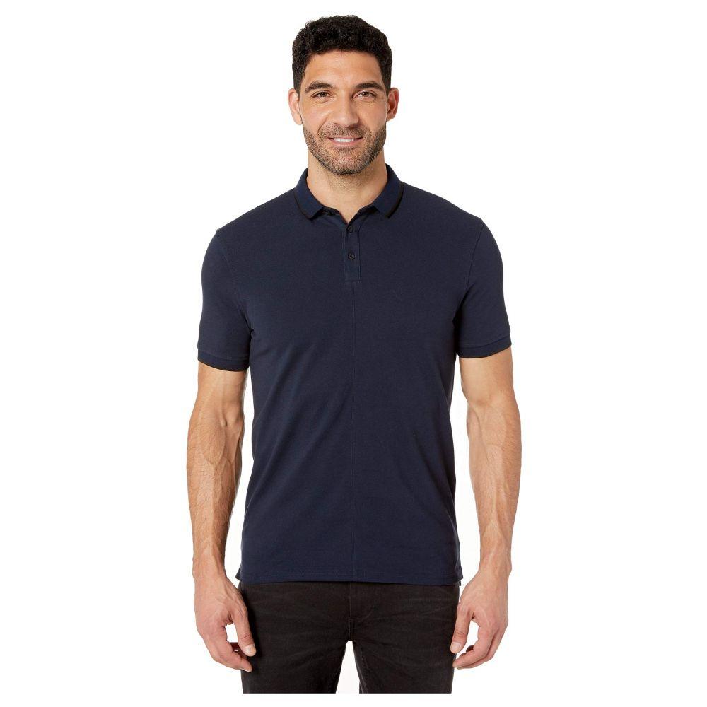 ジョン バルベイトス John Varvatos Star U.S.A. メンズ ポロシャツ 半袖 トップス【Dover Short Sleeve Pique Polo w/ Tipping】Deep Blue