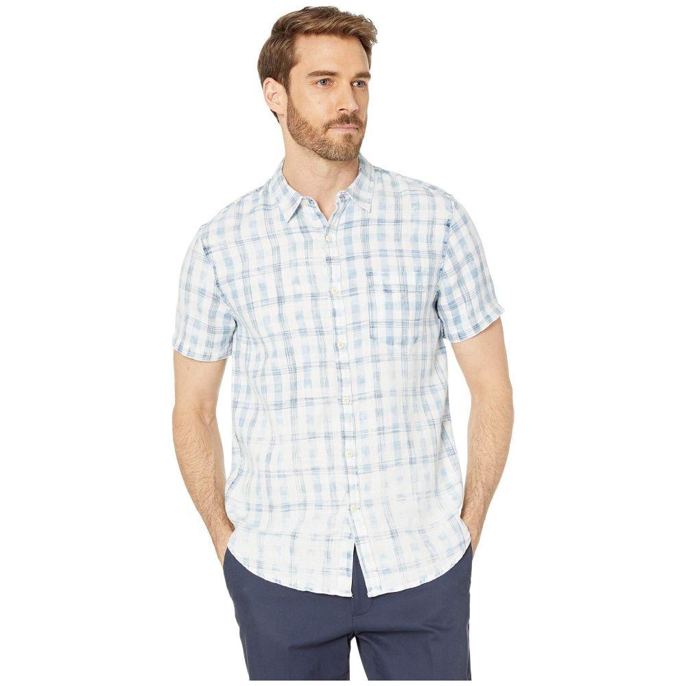 ラッキーブランド Lucky Brand メンズ 半袖シャツ トップス【Short Sleeve Shirt】Natural/Blue