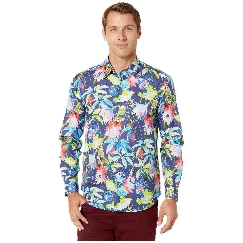 ブガッチ BUGATCHI メンズ シャツ トップス【St. Thomas Long Sleeve Button Up Shirt】Navy