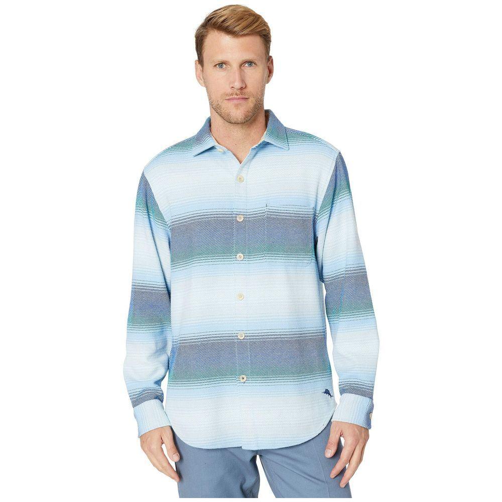 トミー バハマ Tommy Bahama メンズ シャツ トップス【Palm Desert Ombre Shirt】Mazarine Blue