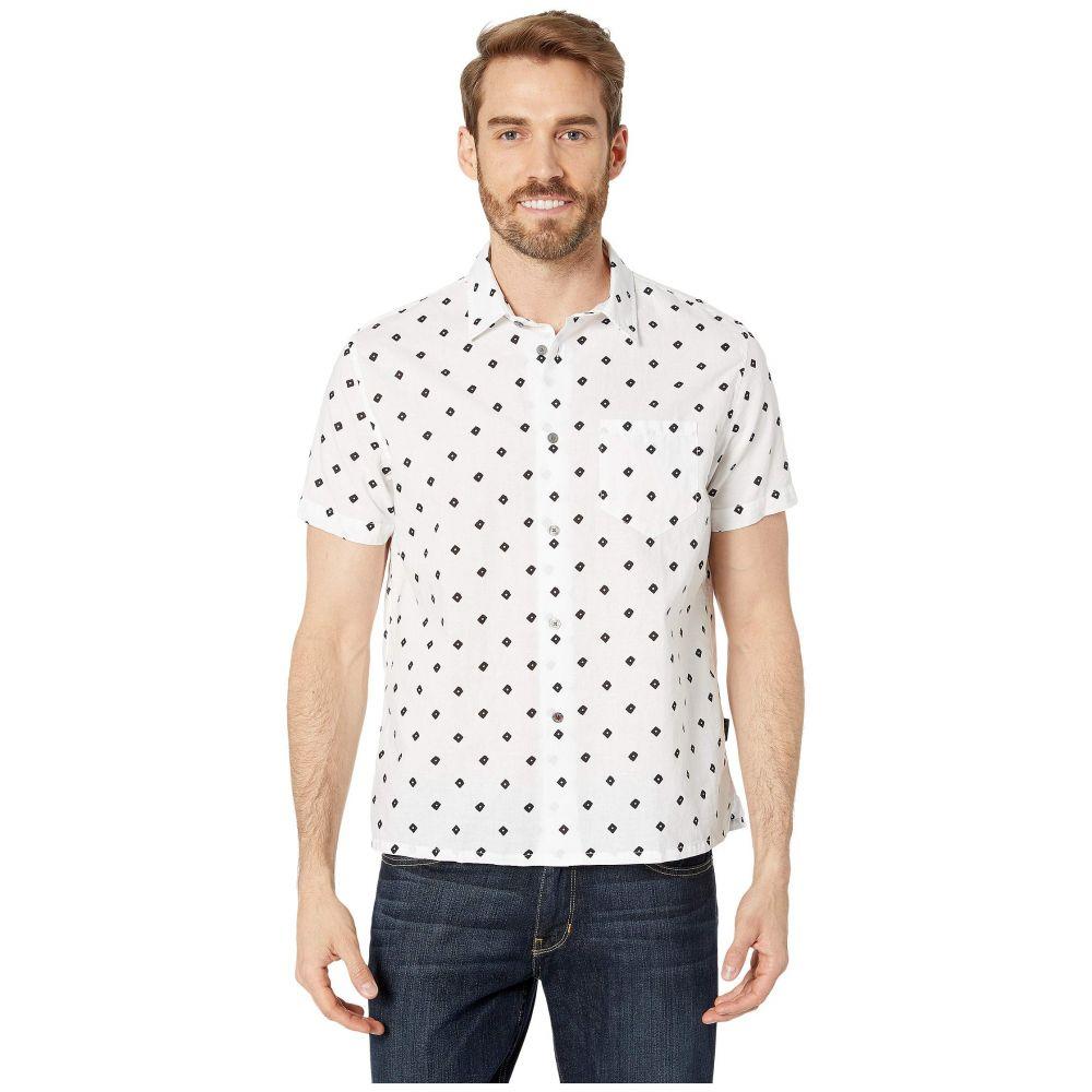 ジョン バルベイトス John Varvatos Star U.S.A. メンズ 半袖シャツ トップス【Trent Short Sleeve Sport Shirt w/ Chest Pocket W624V1B】Salt