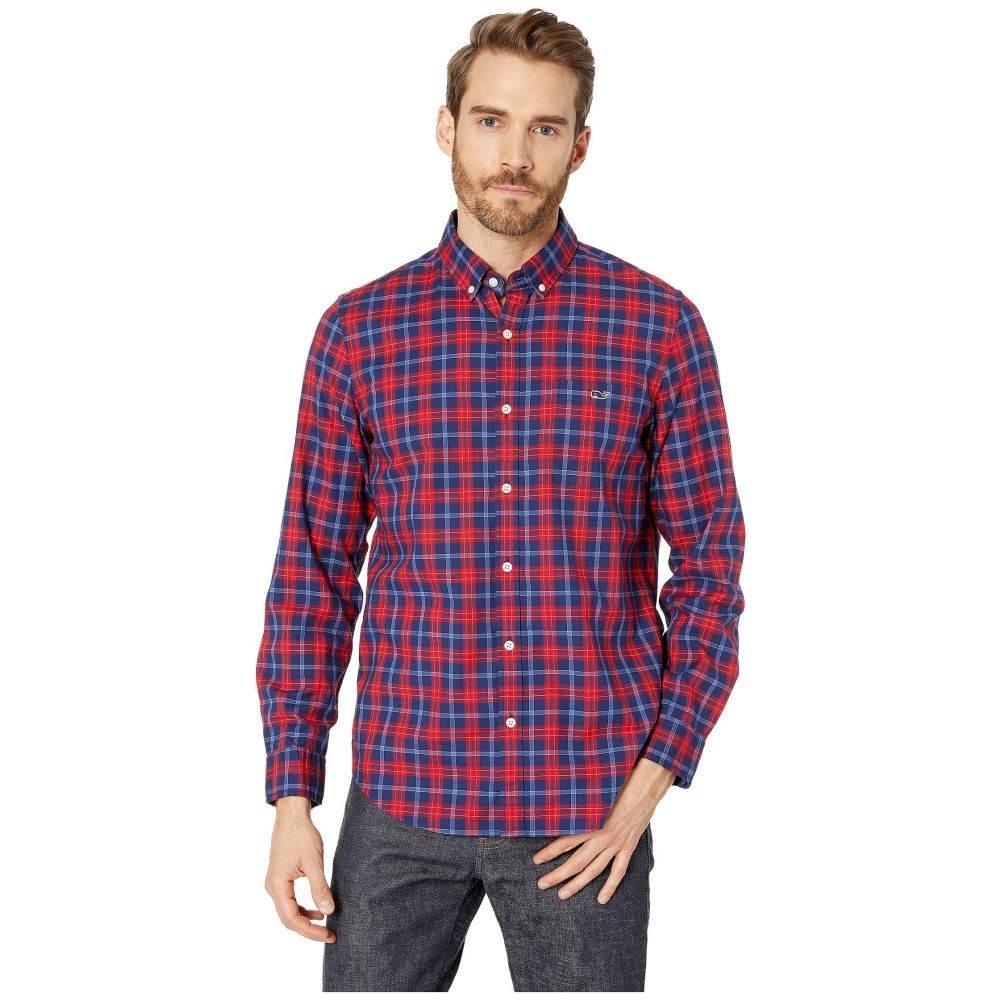 ヴィニヤードヴァインズ Vineyard Vines メンズ シャツ トップス【Pacific Ave Slim Tucker Shirt】Calypso Red