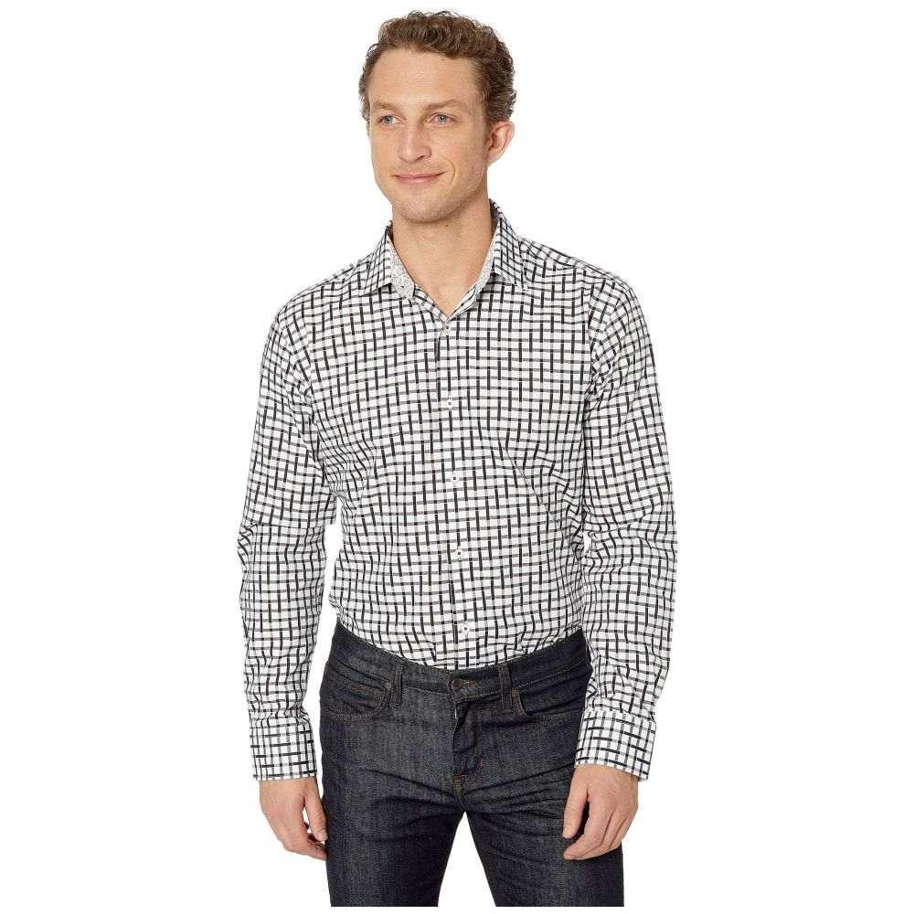 ブガッチ BUGATCHI メンズ シャツ トップス【Geo Long Sleeve Shaped Fit Button-Up Shirt】Black