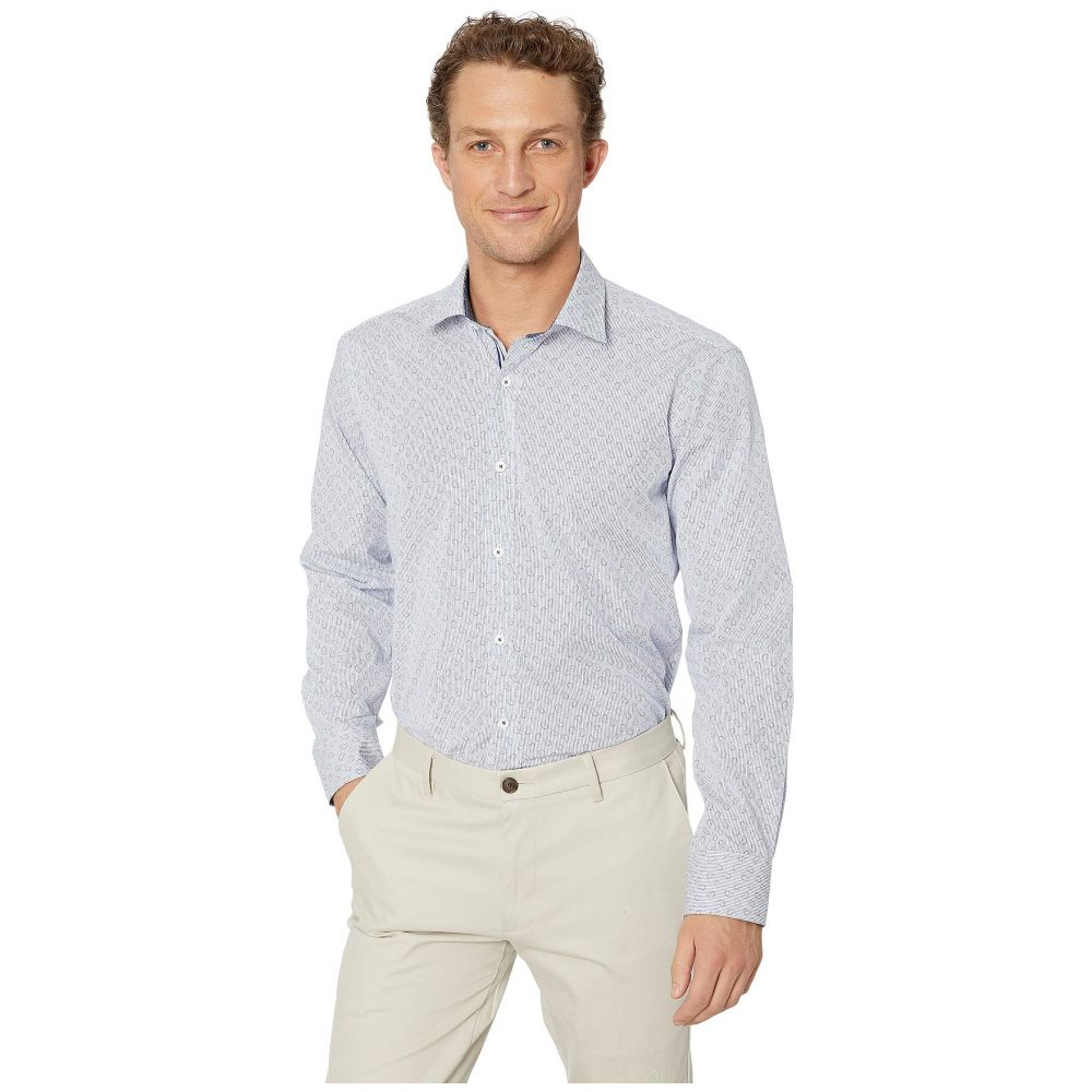 ブガッチ BUGATCHI メンズ シャツ トップス【Long Sleeve Shaped Fit Button-Up Shirt】Classic Blue