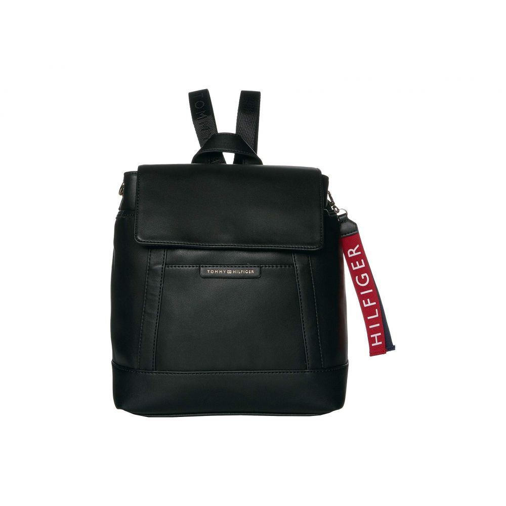 トミー ヒルフィガー Tommy Hilfiger レディース バックパック・リュック バッグ【Lottie Smooth PVC Backpack】Black