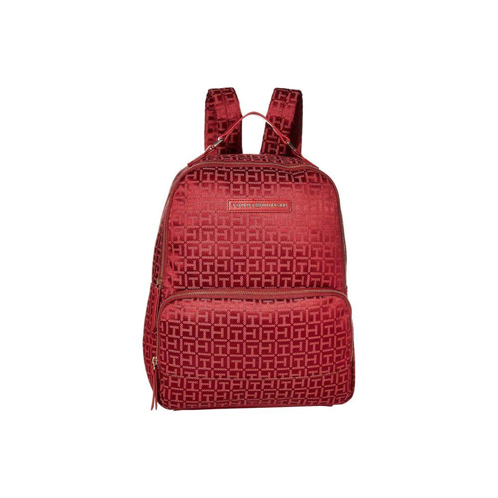 トミー ヒルフィガー Tommy Hilfiger レディース バックパック・リュック バッグ【Alva Large Backpack】Red Tonal