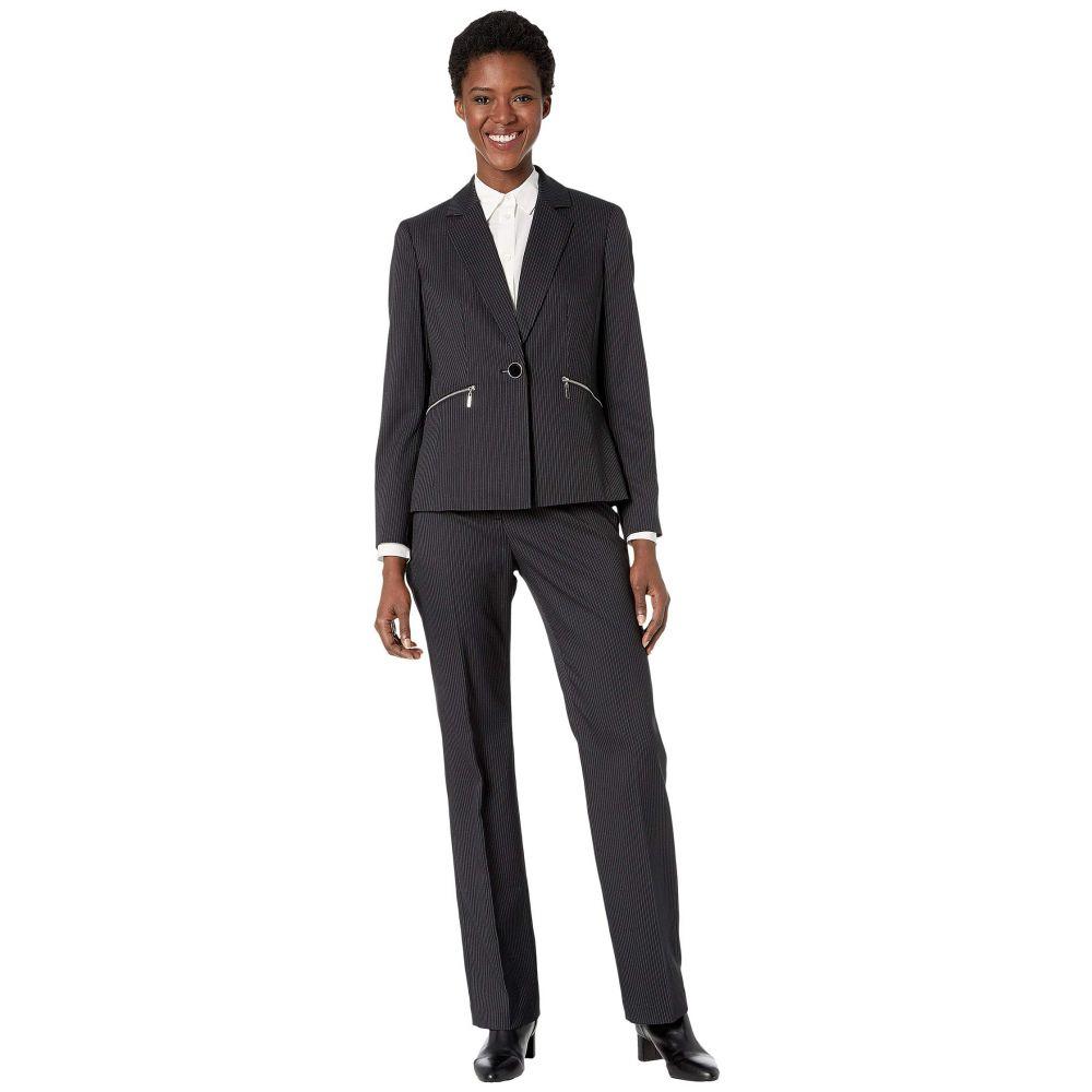 ル スーツ Le Suit レディース スーツ・ジャケット アウター【Jacket/Pants Suit Set】Black/White