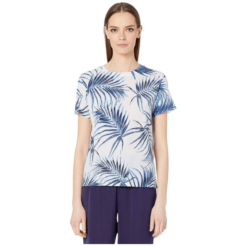 スポーツマックス Sportmax レディース Tシャツ トップス【Cadine Cotton Printed T-Shirt】Light Blue