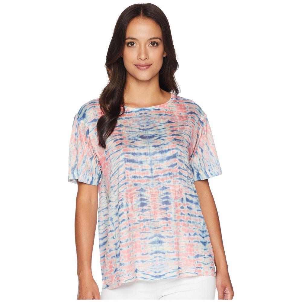 ナリーアンドミリー Nally & Millie レディース Tシャツ トップス【Short Sleeve Pink Tie-Dye Burnout Top】Multi