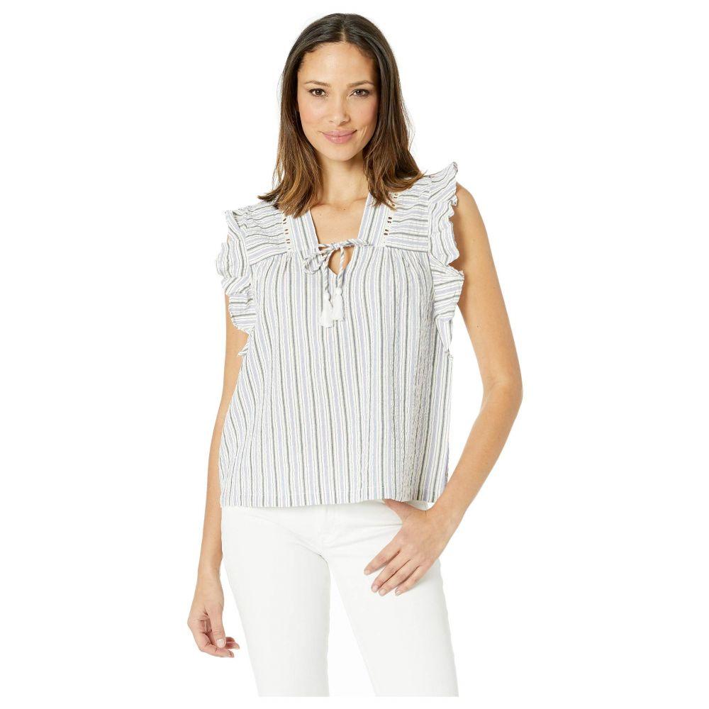 リラピー Lilla P レディース ブラウス・シャツ トップス【Short Sleeve Yarn-Dye Stripe Tie Top】Stripe