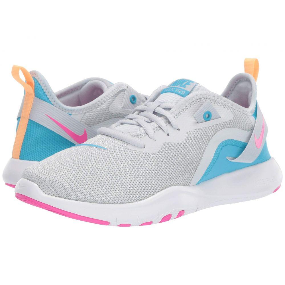 ナイキ Nike レディース スニーカー シューズ・靴【Flex TR 9】Pure Platinum/Laser Fuchsia/White