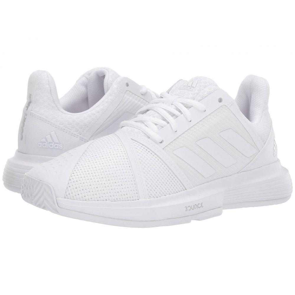 アディダス adidas レディース スニーカー シューズ・靴【CourtJam Bounce】Footwear White/Footwear White/Matte Silver