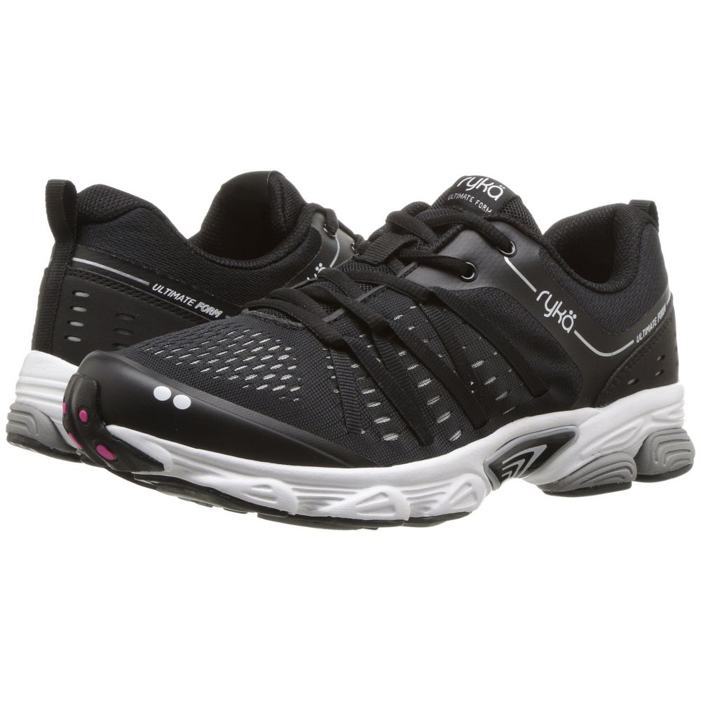 ライカ Ryka レディース ランニング・ウォーキング シューズ・靴【Ultimate Form】Black/Chrome Silver/Athena Pink
