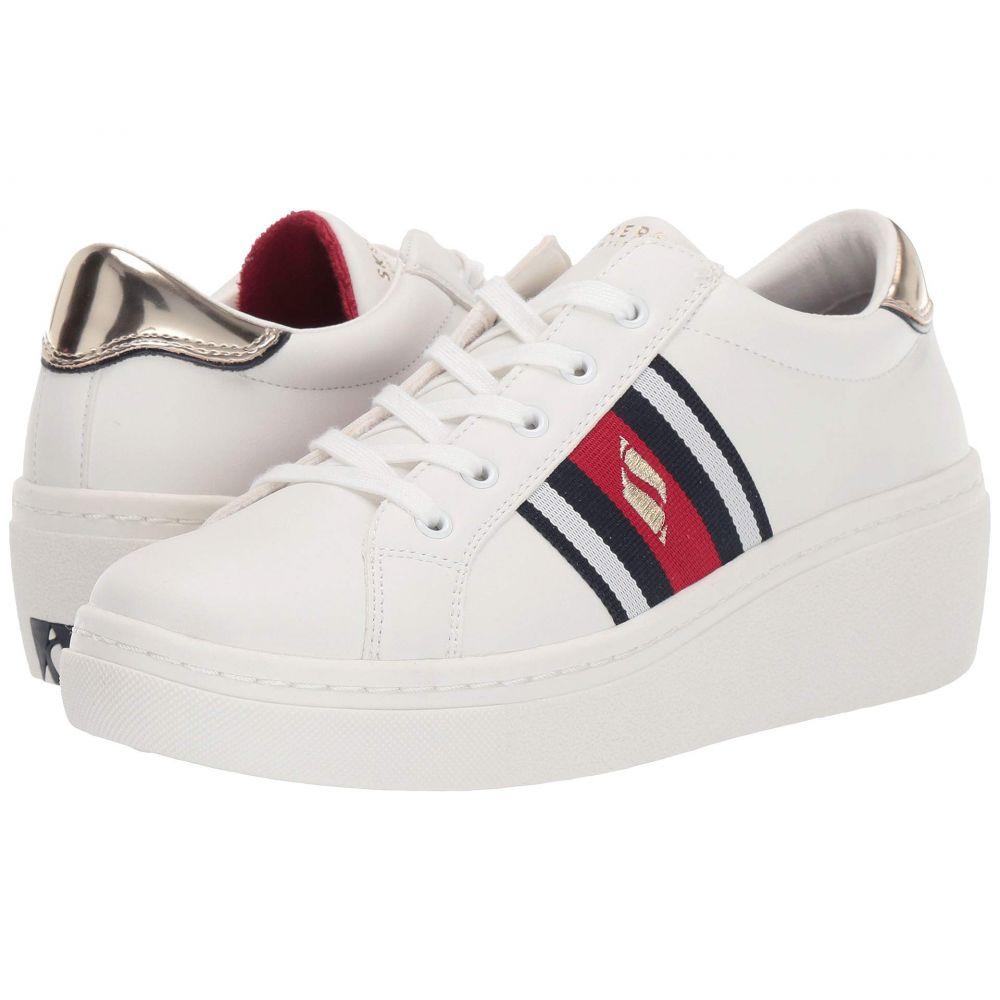 スケッチャーズ SKECHERS Street レディース スニーカー シューズ・靴【Goldie Hi - Hi Collegiate Cruiz】White/Red/Navy