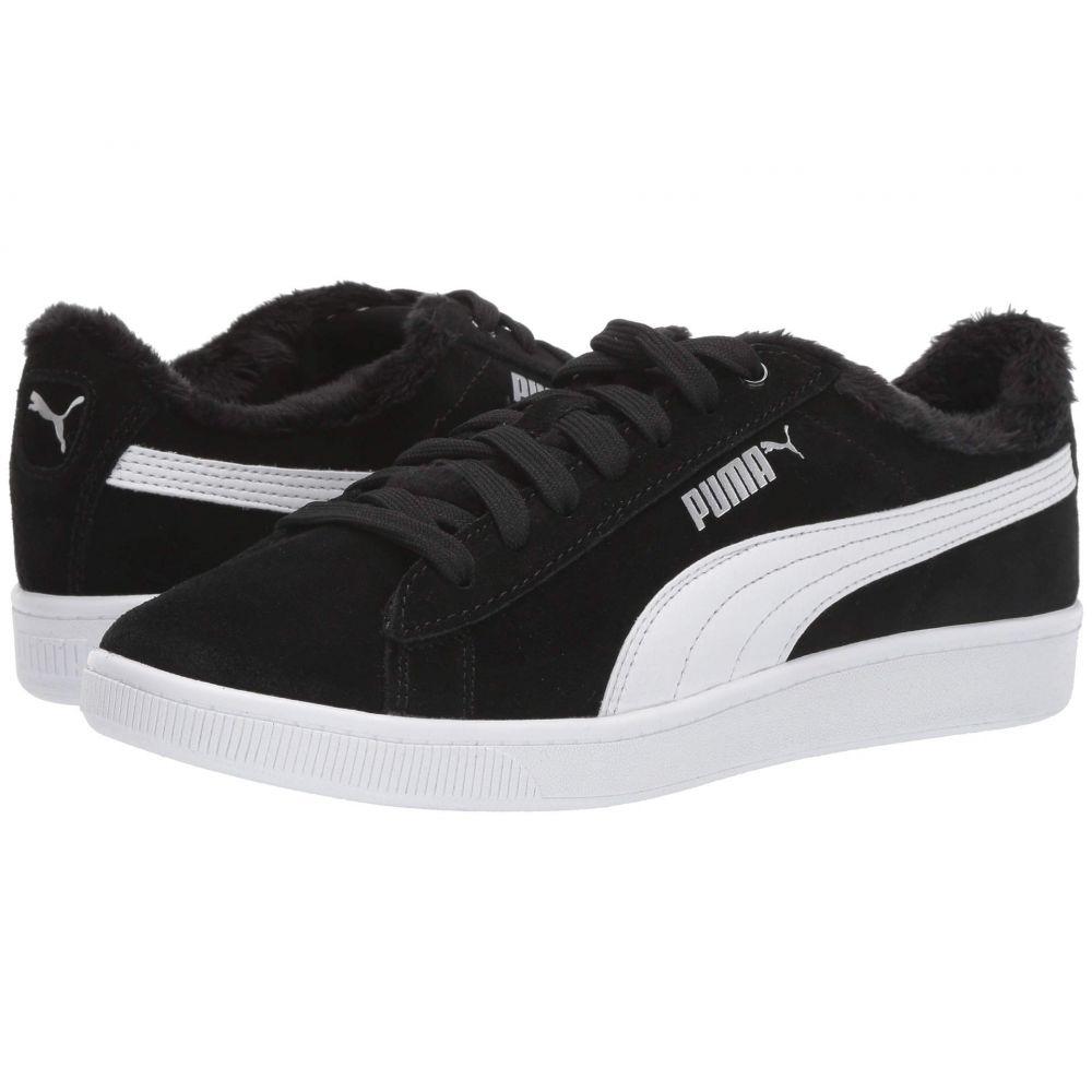 プーマ PUMA レディース スニーカー シューズ・靴【Vikky V2 Fur】Puma Black/Puma White/Puma Silver