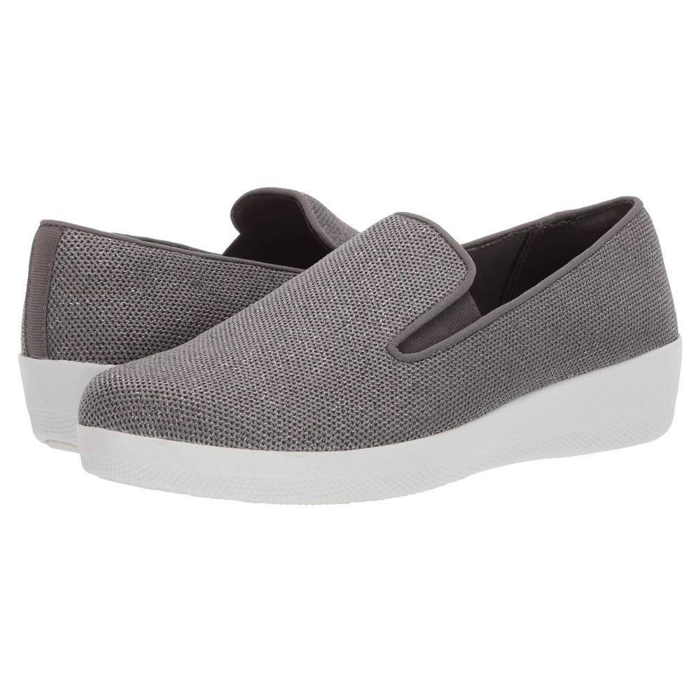 フィットフロップ FitFlop レディース スニーカー シューズ・靴【Superskate Uberknit】Charcoal Grey/Pewter
