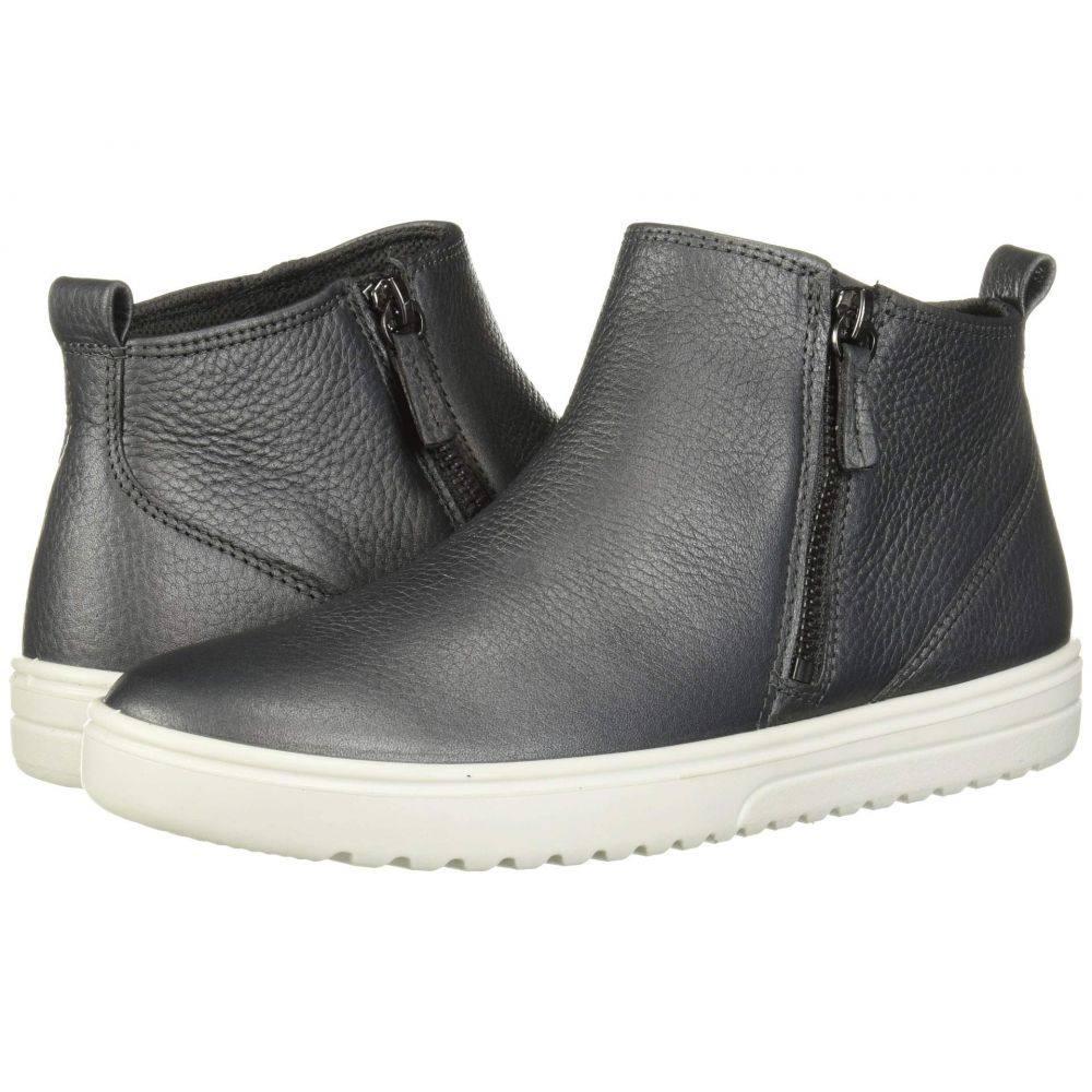 エコー ECCO レディース スニーカー ショートブーツ シューズ・靴【Fara Ankle Zip Bootie】Magnet Metallic Cow Leather