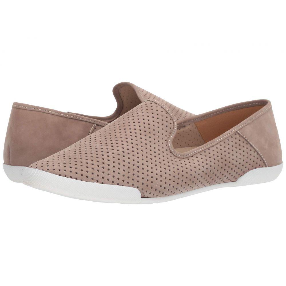 タハリ Tahari レディース スリッポン・フラット スニーカー シューズ・靴【T Bellona Perforated Slip-On Sneaker】Stone Nubuck