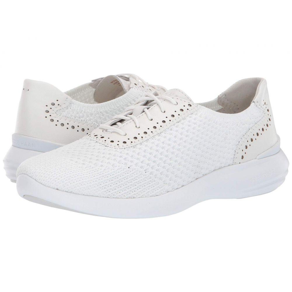 コールハーン Cole Haan レディース スニーカー シューズ・靴【2.0 Ella Grand Knit Oxford】Optic White Knit/Optic White Leather/Optic White