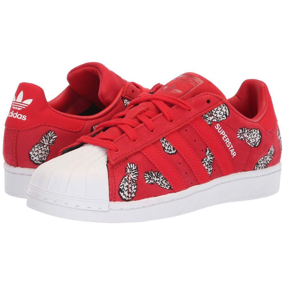 アディダス adidas Originals レディース スニーカー シューズ・靴【Superstar W】Scarlet/Scarlet/White