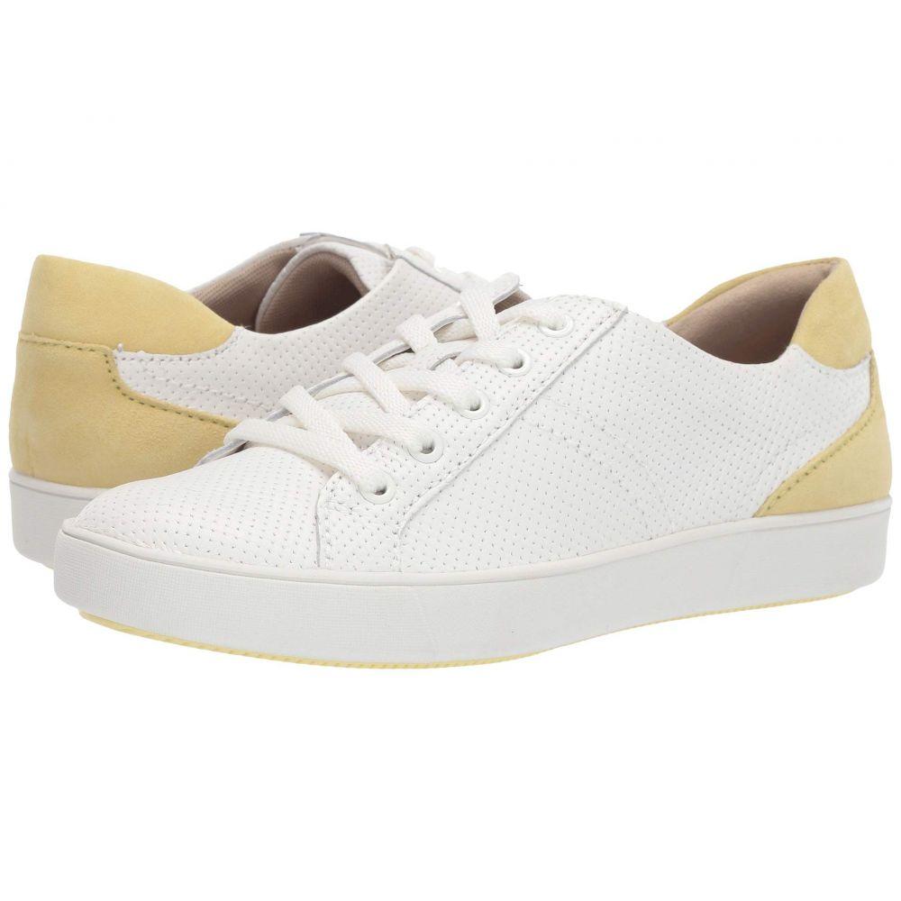 ナチュラライザー Naturalizer レディース スニーカー シューズ・靴【Morrison】White Perfed Leather/Yellow Suede