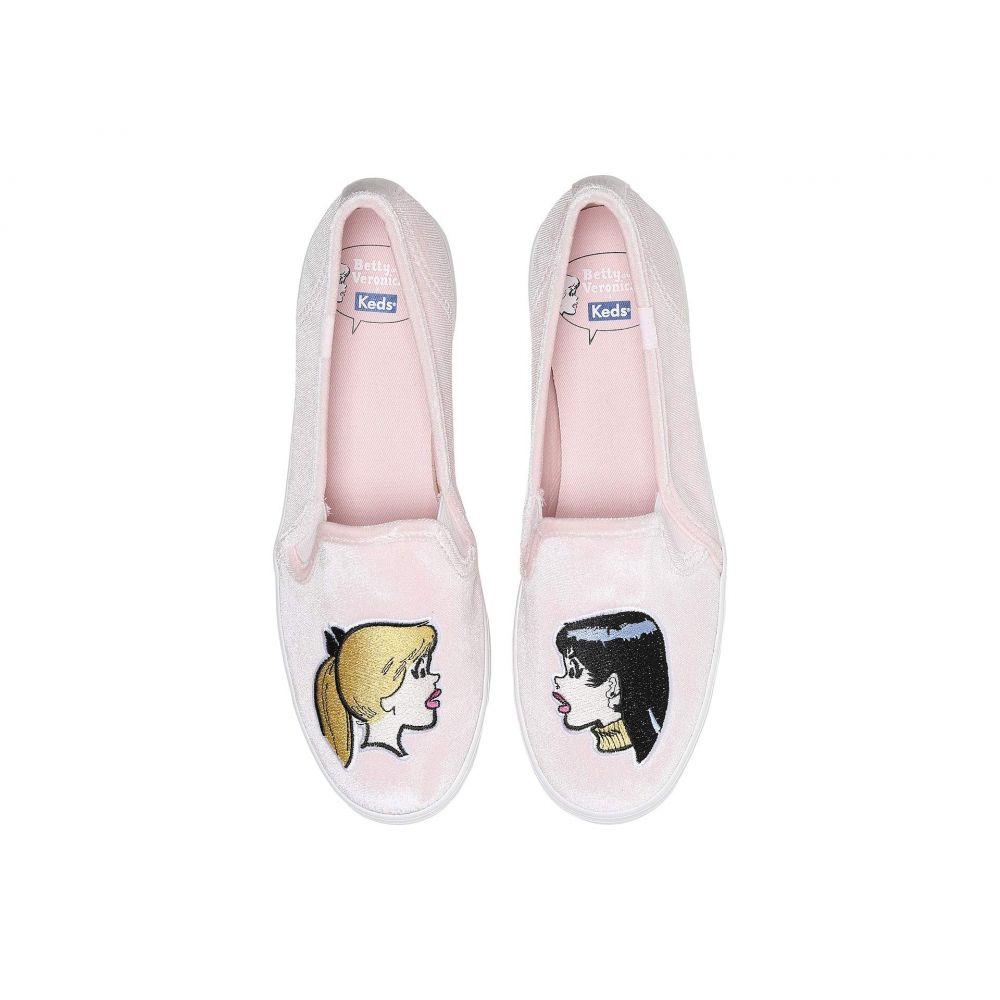 Betty Decker Keds Profile】Pink Veronica Embroidered Velvet シューズ・靴【x and ケッズ レディース Triple スニーカー
