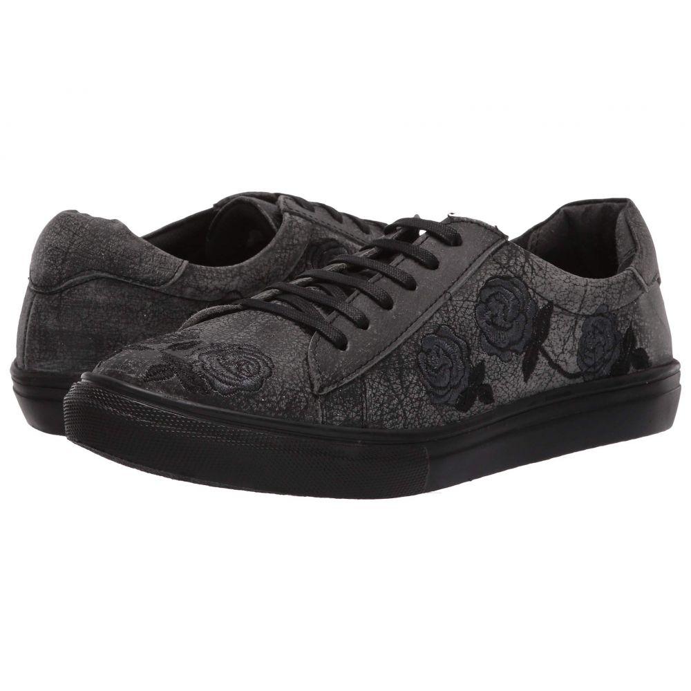 ローパー Roper レディース スニーカー シューズ・靴【Madeline】Black Sanded Leather/Rose Embroidered Upper