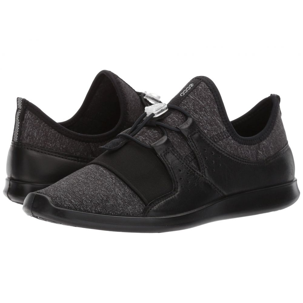 エコー ECCO レディース スニーカー シューズ・靴【Sense Elastic Toggle】Black/Black