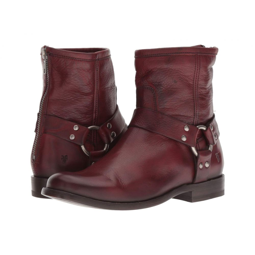フライ Frye レディース ブーツ シューズ・靴【Phillip Harness Short】Burnt Red Soft Vintage Leather