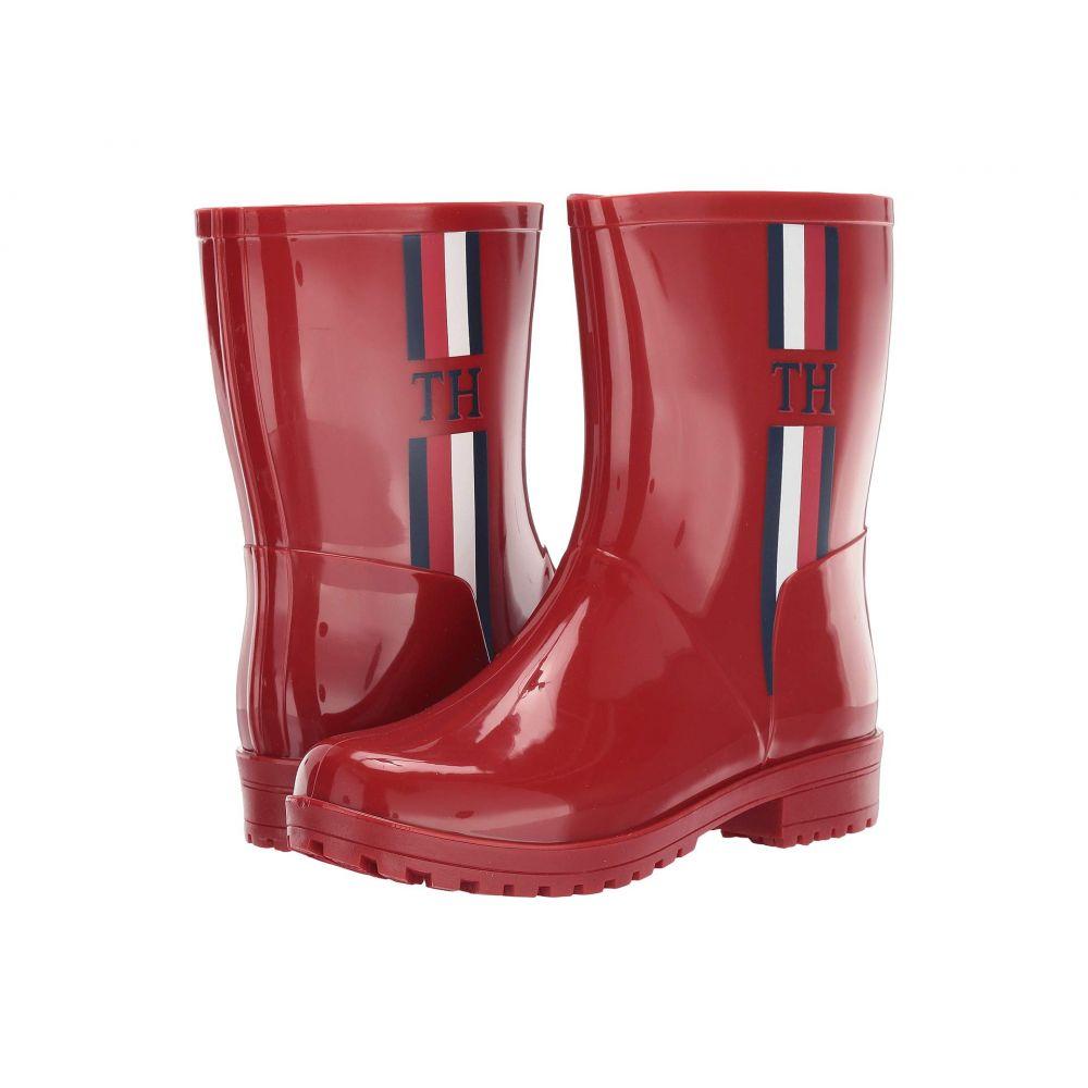トミー ヒルフィガー レディース シューズ・靴 レインシューズ・長靴 Medium Red Synthetic 【サイズ交換無料】 トミー ヒルフィガー Tommy Hilfiger レディース レインシューズ・長靴 シューズ・靴【Milia】Medium Red Synthetic