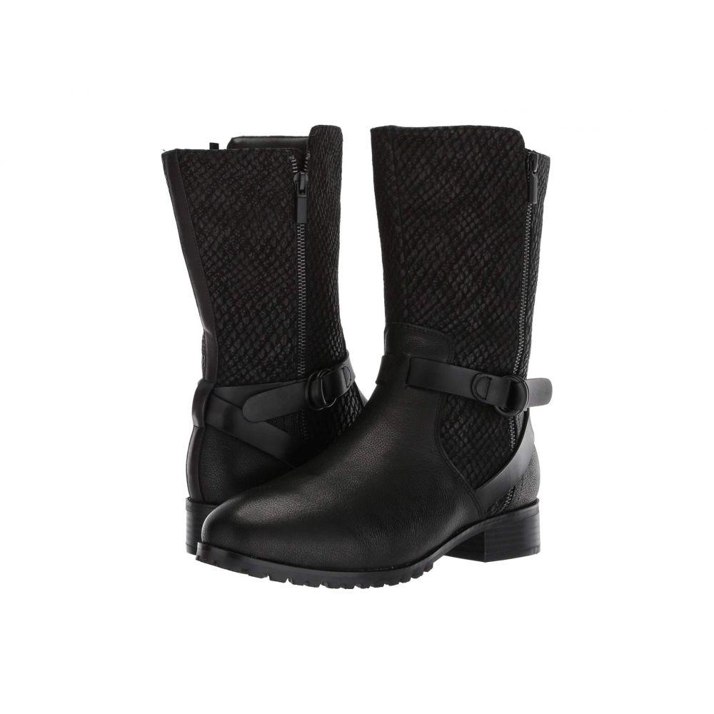 ソフトウォーク SoftWalk レディース ブーツ シューズ・靴【Marlowe】Black Reptile