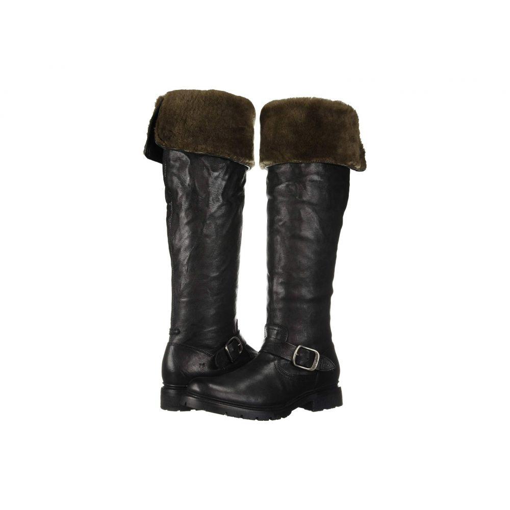 フライ Frye レディース ブーツ シューズ・靴【Vanessa Over the Knee】Black Oiled Pull-Up/Shearling
