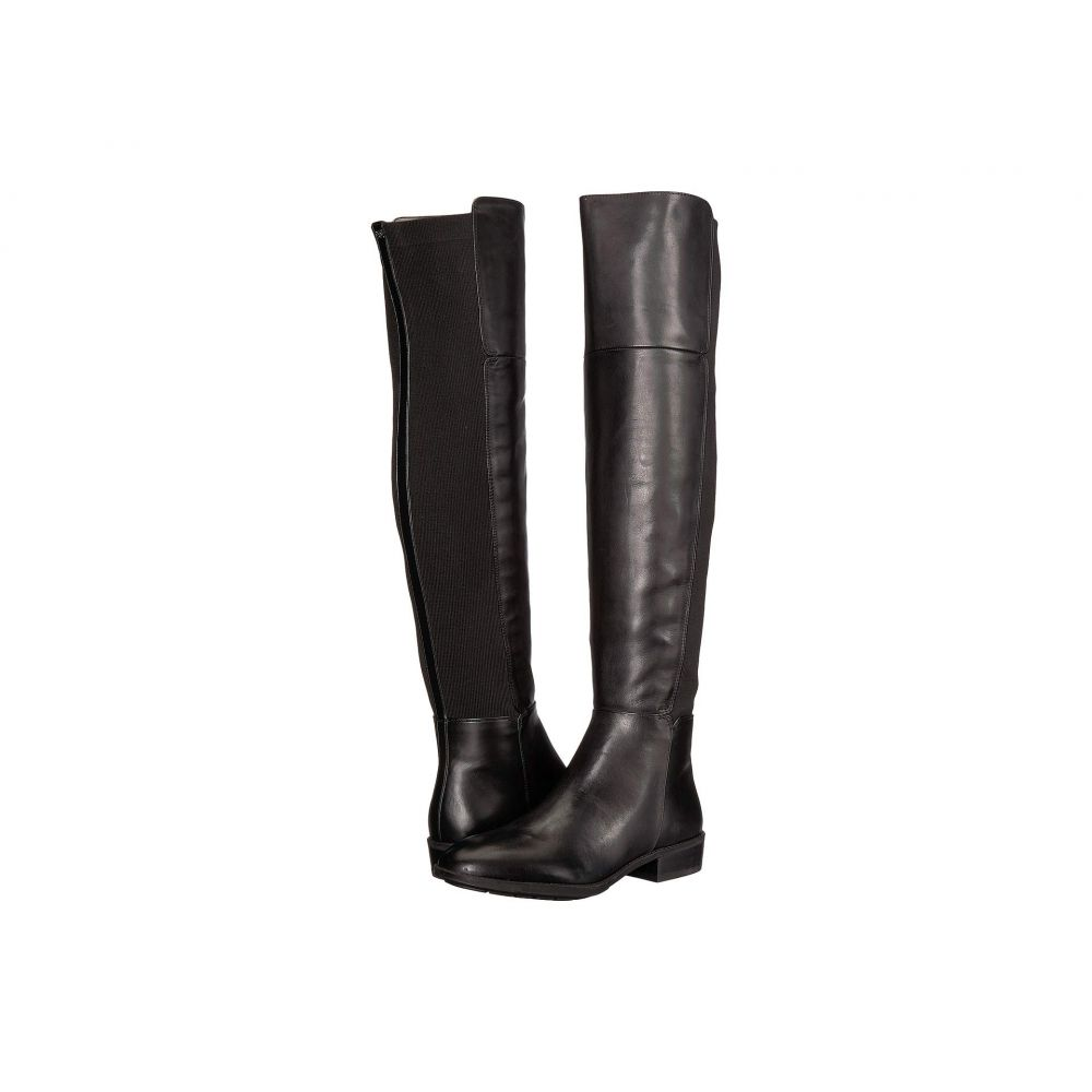 サム エデルマン Sam Edelman レディース ブーツ シューズ・靴【Pam】Black Leather Modena Calf Leather/Ribbed Stretch Knit