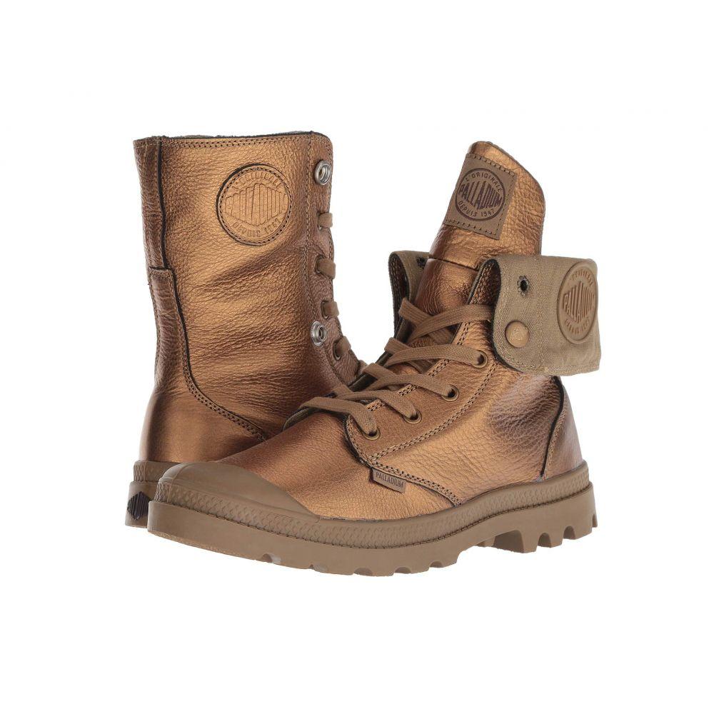 パラディウム Palladium レディース ブーツ シューズ・靴【Baggy Metallic Leather】Bronze/Butternut