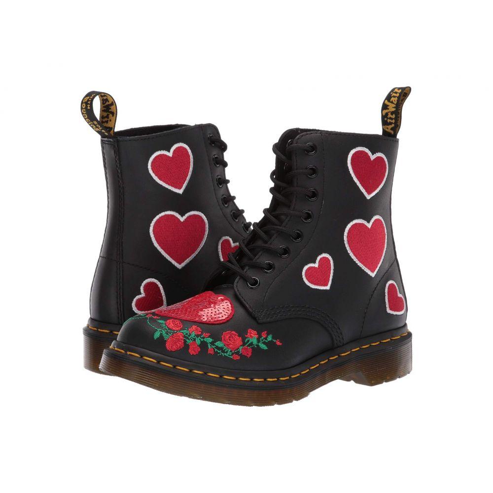 ドクターマーチン Dr. Martens レディース ブーツ シューズ・靴【1460 Pascal Hearts Core Applique】Black/DMS Red